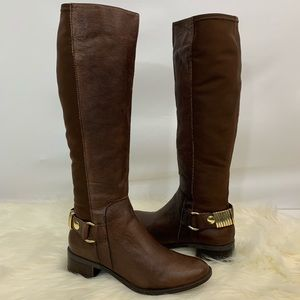 Steve Madden brown leather Reggiee riding boots